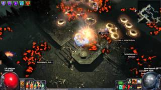 Path of Exile: Ele Buzzsaw Gameplay Commentary - 74 Maze Map - Elemental Spectral Throw Scion