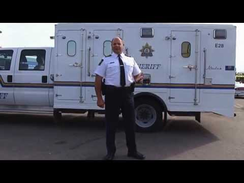 Alberta Sheriffs Chief Rick Taylor takes the Ice Bucket Challenge for ALS