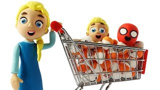 Diana and her mom at the Supermarket 💗 Cartoons For Kids