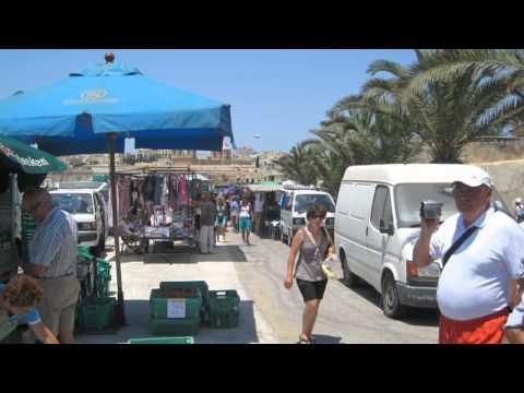 Marsaxlokk market and Blue Grotto