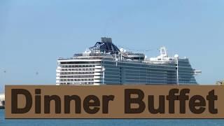 MSC Preziosa Dinner Buffet Tour - 2016 Documentary