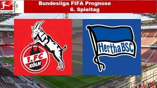 Bundesliga FIFA Prognose | 6.Spieltag | 1. FC Köln - Hertha BSC Berlin