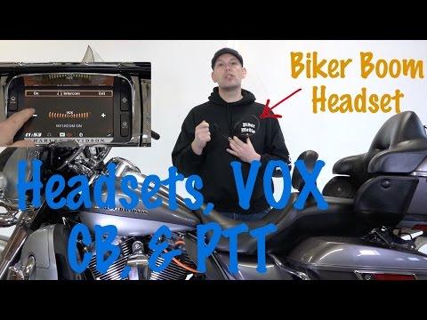 Harley Biker Boom Headset & VOX, CB, & PTT Custom Settings & Tutorial