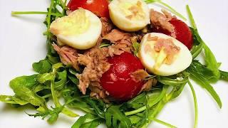 Салат с рукколой и тунцом | Salad with arugula and tuna