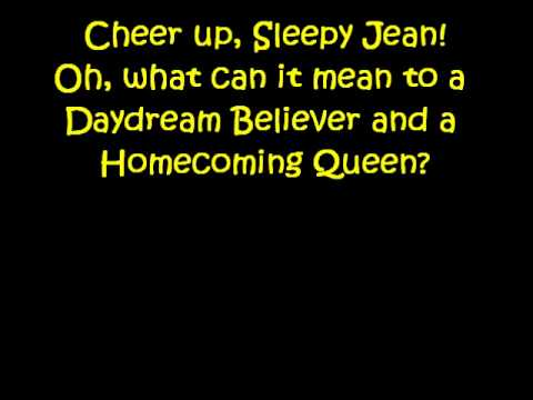 The Monkees~Daydream Believer lyrics
