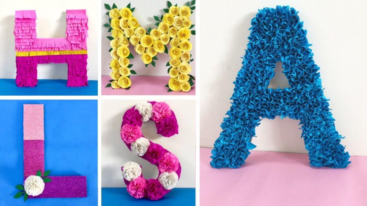 3d Letter Diy.Diy 3d Floral Letters Diy 3d Letters For Birthday Decoration Baby Shower Decoration Ideas