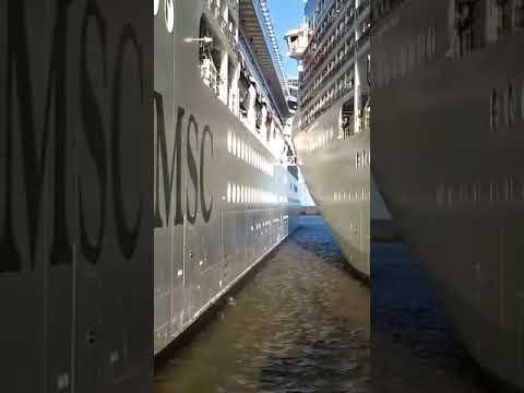 EL #Orchestra y el #Poesia de MSC Cruceros tuvo un encuentro muy cercano en el Puerto Buenos Aires