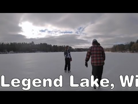 LEGEND LAKE, WI// A DAY ON THE ICE