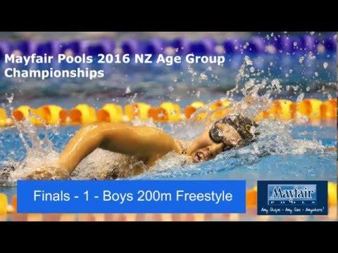 finals 1 - Boys 200m Freestyle