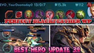 UPDATE 3.9 BEST MOST BROKEN OP HERO PERFECT BLACKFEATHER GAMEPLAY TOP LANE WP - VAINGLORY 3.9 5V5