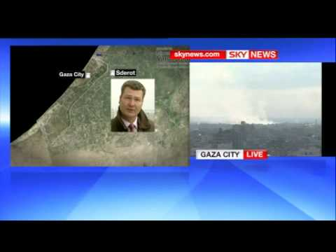 News Reporter witness rocket attack from Gaza.