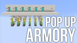 Minecraft: Pop Up Armory - Hidden Armor Stands - Redstone Tutorial