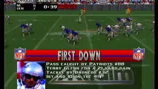 NFL Quarterback Club '98 - New England Patriots vs Denver Broncos Full Game (Electric Football Mode)