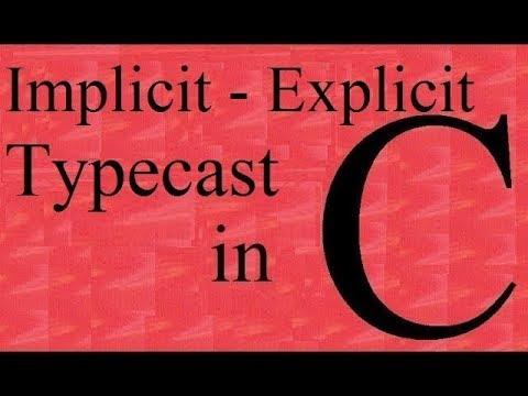 C programming Tutorial :- implicit and explicit type cast (Program) in C language | Saurabh Bhargava thumbnail