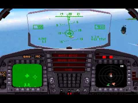 F-15 Strike Eagle 3: Panama tankers! (PC,DOS,1992) - YouTube