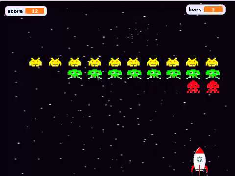 scratch space invaders
