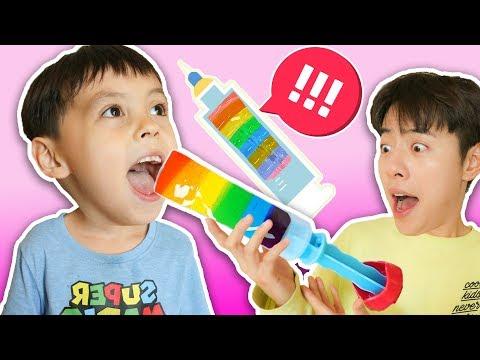 马树alex一緒にDIY果物のアイスクリーム- Mashu ToysReview