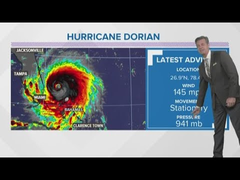 Dorian stationery for now, could avoid Florida
