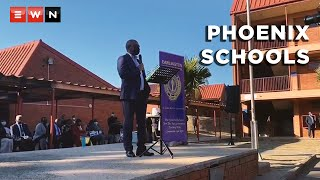 KwaZulu-Natal Education MEC Kwazi Mshengu toured high schools in Phoenix on 26 July 2021. The visit was to ensure that pupils and educators would be safe to return to schools after violence and looting hit the town and other parts of the province.  #KZNviolence #Phoenix