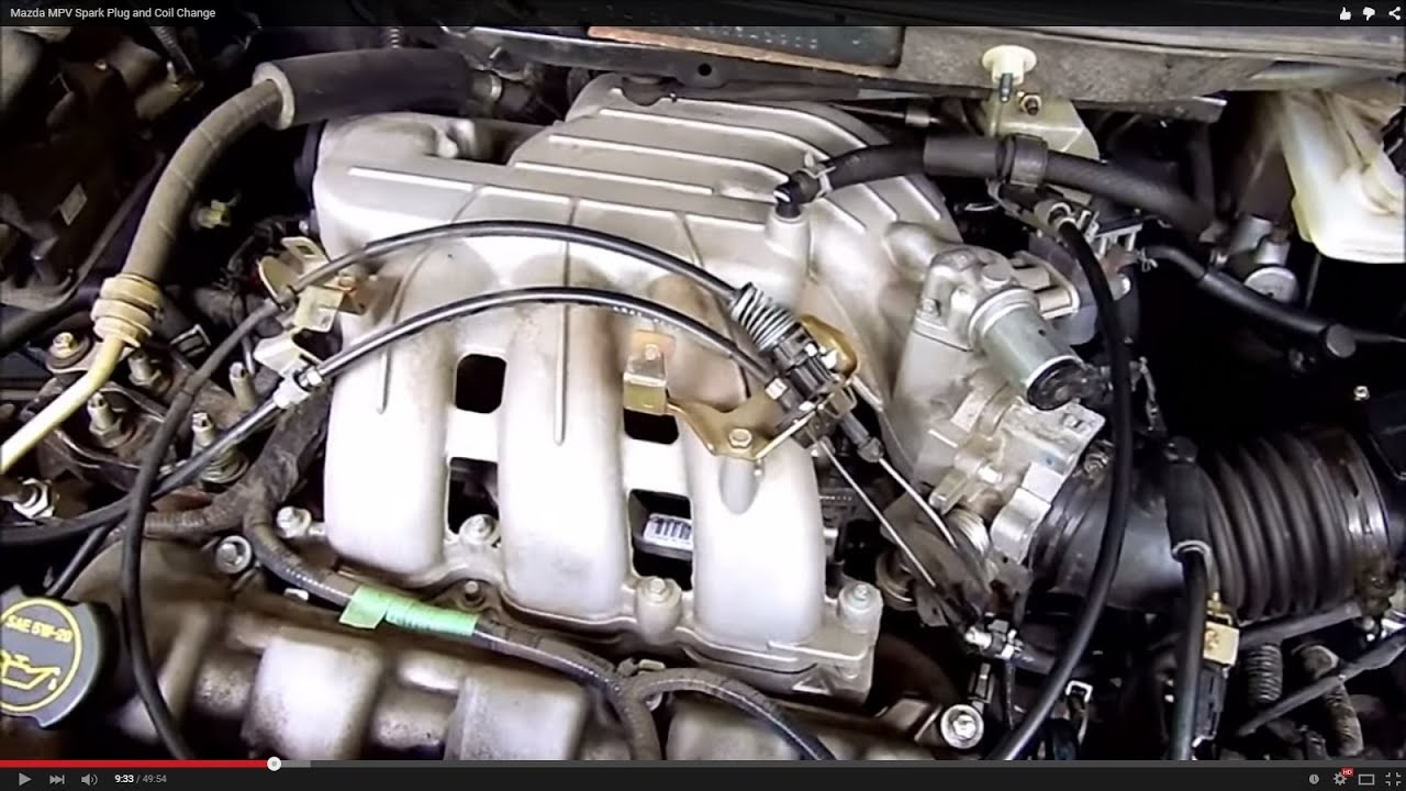 Mazda       MPV    Spark Plug and Coil Change  YouTube