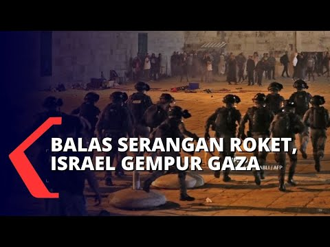 Balas Serangan Roket Palestina, Israel Gempur Gaza