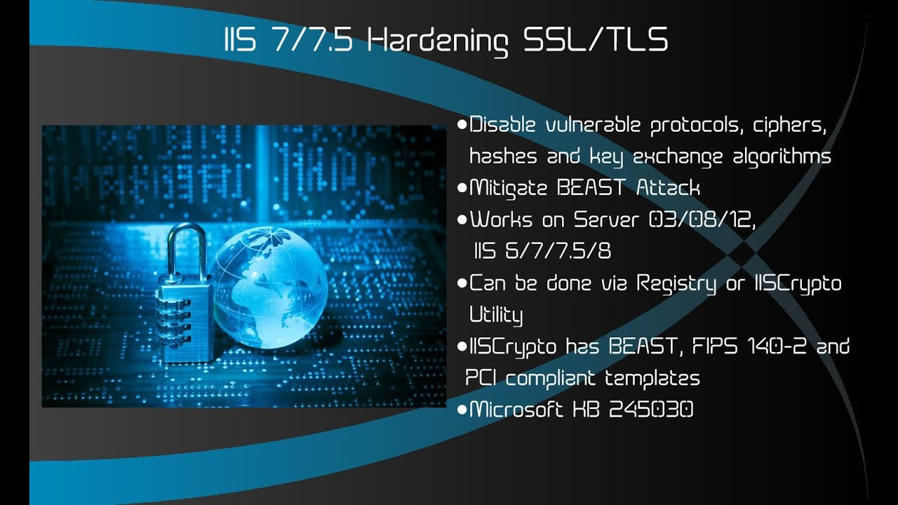 iis how to make tls 1.2 as default