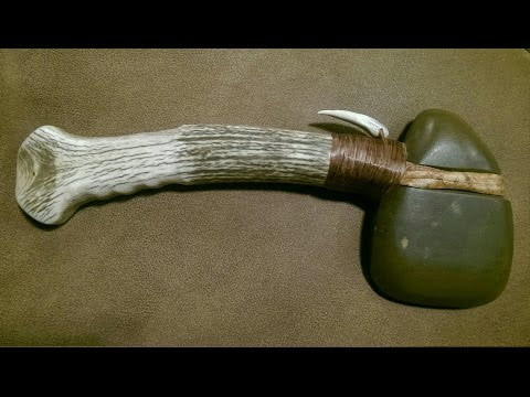 Making my 3/4 grooved stone axe