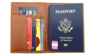 Frequent Traveler? Check out the Rome Passport Holder by Kavaj!