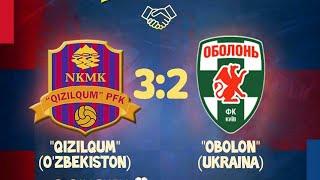 Назорат учрашуви Қизилқум Оболонь Украина 3 2