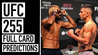 <b>UFC 255</b>: Figueiredo vs. Perez Full Card Predictions