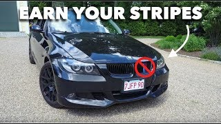 Today on JD Cars I replace the kidney grilles with black ones becau...