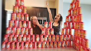 100 CUPS OF COFFEE ROLL UP THE RIM EXPERIMENT!!!