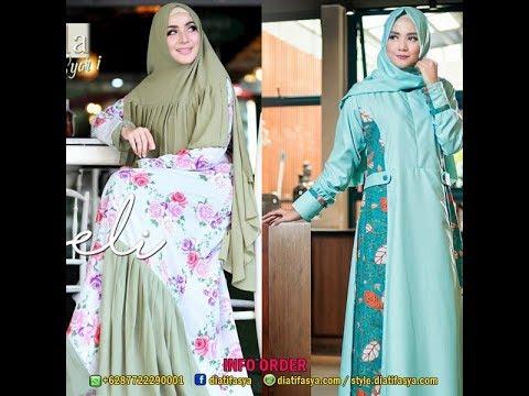 Model Gamis Motif Bunga Bunga Dan Gamis Batik Modern 2017 2018