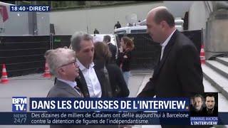 Interview de Macron: Jean-Jacques Bourdin arrive au théâtre Chaillot