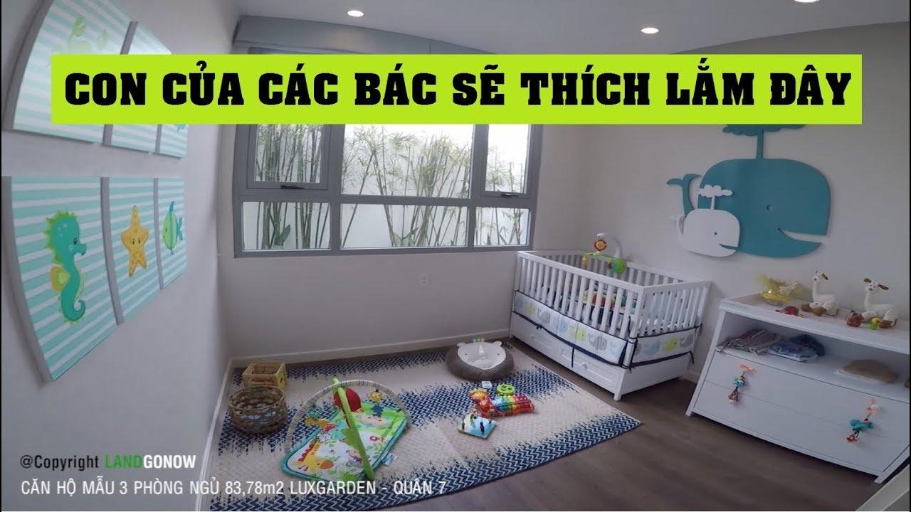 Căn hộ mẫu 3 phòng ngủ 83,78m2 Luxgarden, Phú Thuận, Quận 7 – Land Go Now ✔