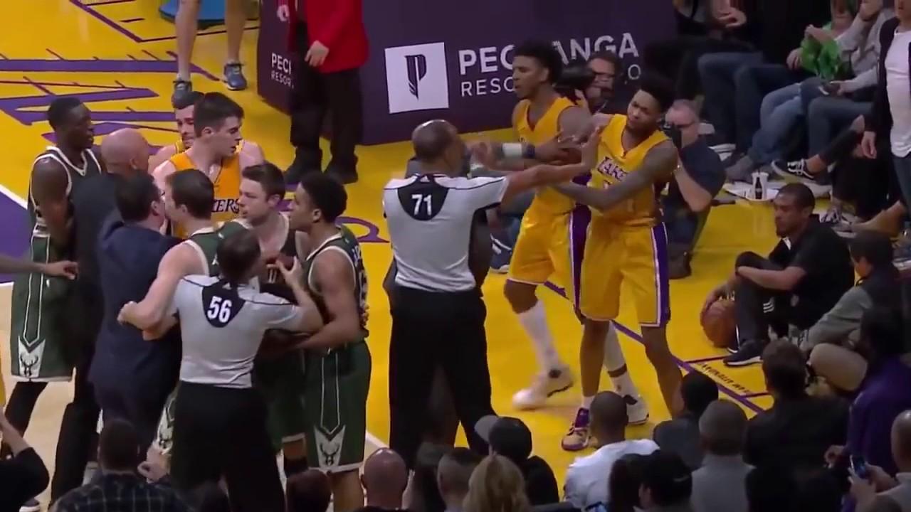 CRAZIEST NBA FIGHTS 2017!