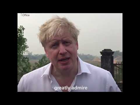 Foreign Secretary Boris Johnson visits Asia