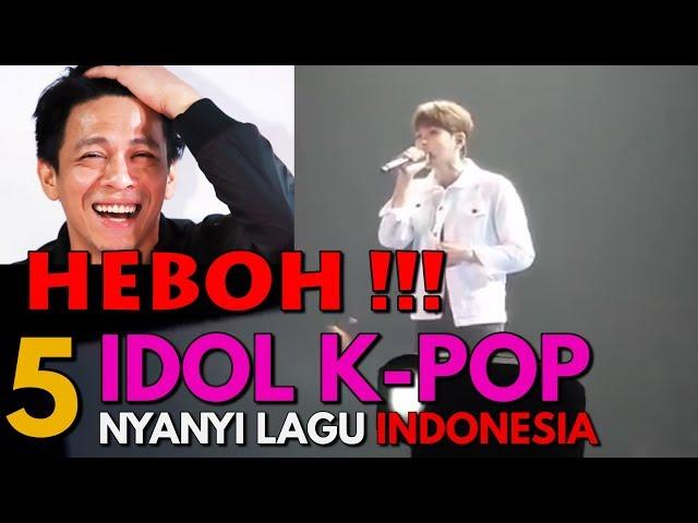 Bikin Histeris! Penampilan Bintang Korea Selatan Nyanyi Lagu Indonesia