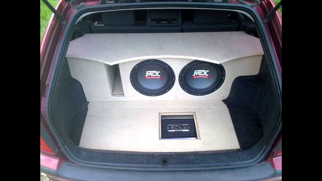 Mtx Audio Subwoofer Installation On Bmw E46 Touring  Part 1