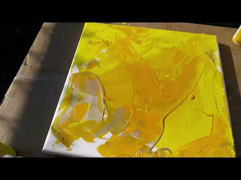 Painting Abstract Art with Acrylics on Canvas – Video 1