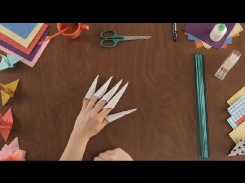 How to Make Paper Claws : Paper Art Projects