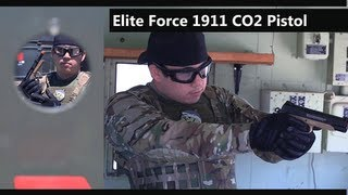 Airsoft GI - Elite Force 1911 Tactical Full Metal CO2 Blow Back Airsoft Pistol