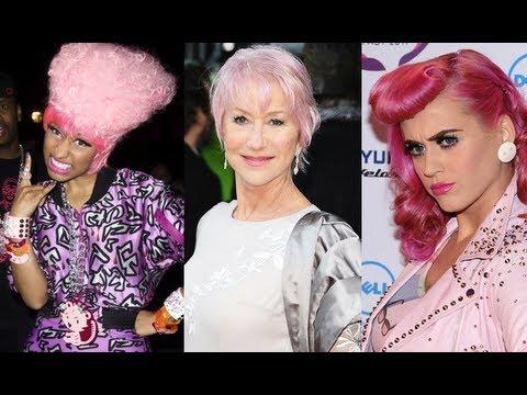 NICKI MINAJ, KATY PERRY Have Nothing On HELEN MIRREN'S Pink Hair