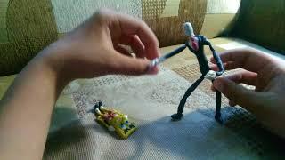 пластилиновый мультик((( Губка Боб не знает своей роли/// Слендермен злится на Губку Боба