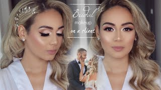 Soft Classic Bridal Makeup On A Client! | Ft. Tartelette In Bloom Palette
