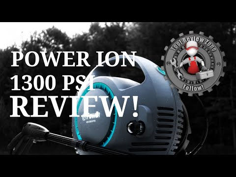 POWER Pressure Washer 1300 PSI with Lithium Battery REVIEW! ( Ion-1300B 36V )