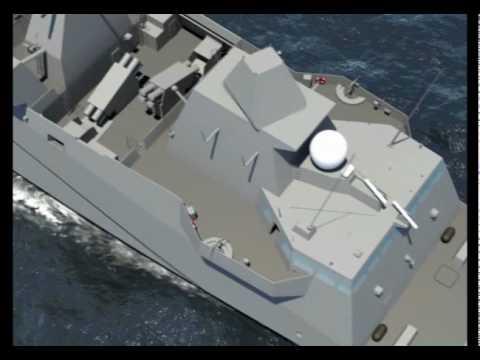 DCNS -  FREMM Multi-Mission Stealth Frigate Aquitaine Walk-Through Simulation