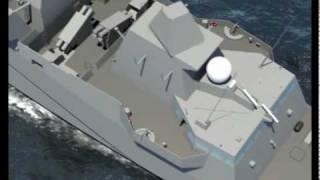 DCNS -  FREMM Multi-Mission Stealth Frigate Aquitaine Walk-Through Simulation
