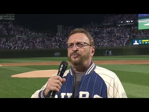 NLCS Gm2: Former PA announcer Messmer sings anthem