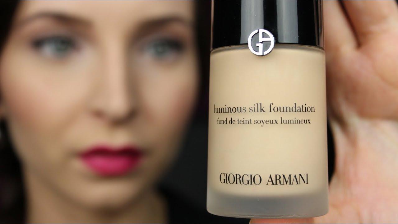 Armani Luminous Silk Foundation Review Awish Youtube